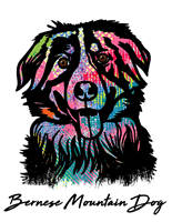 Bernese Mountain Dog T Shirt Colorful Abstract