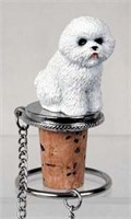 Bichon Frise Bottle Stopper