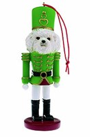 Bichon Frise Christmas Ornament Nutcracker