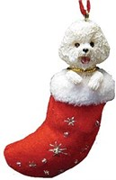 Bichon Frise Christmas Ornament Stocking