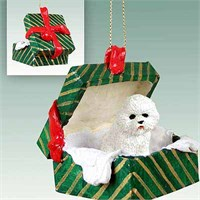 Bichon Frise Christmas Ornament Gift Box