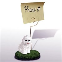 Bichon Frise Note Holder