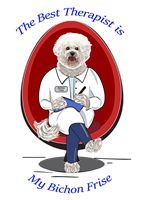 Bichon Frise T Shirt Best Therapist
