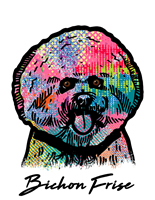 Bichon Frise T Shirt Colorful Abstract