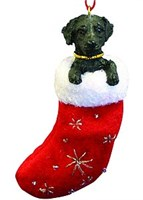 black lab christmas ornament 14536 Black Lab Ornament