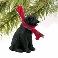 Black Lab Tiny One Christmas Ornament