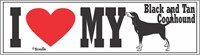 Black And Tan Coonhound Bumper Sticker I Love My
