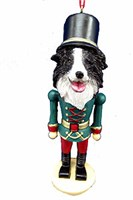 border collie christmas ornament 14500 Border Collie Ornament Nutcracker