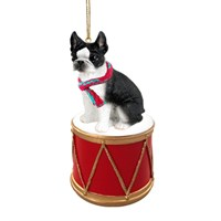 Boston Terrier Little Drummer Christmas Ornament