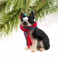 Boston Terrier Tiny One Christmas Ornament