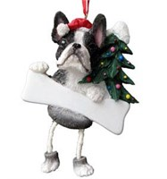 Boston Terrier Christmas Tree Ornament - Personalize