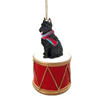 Bouvier des Flandres Little Drummer Christmas Ornament