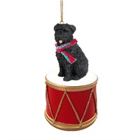 Bouvier Des Flandres Uncropped Little Drummer Christmas Ornament