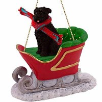 Bouvier Des Flandres Sleigh Ride Christmas Ornament