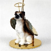 Boxer Angel Ornament Brindle Uncropped