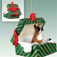 Boxer Christmas Ornament Gift Box