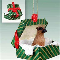 Boxer Gift Box Christmas Ornament Tawny Uncropped