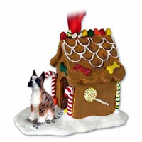 Boxer Christmas Ornament Gingerbread House Brindle