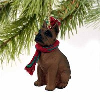 Boxer Tiny One Christmas Ornament Tawny