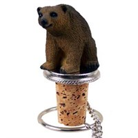 Brown Bear Bottle Stopper