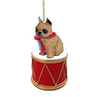 Brussels Griffon Little Drummer Christmas Ornament