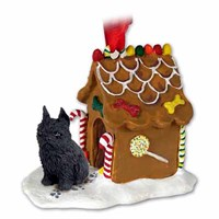 Brussels Griffon Gingerbread House Christmas Ornament Black