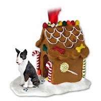 Bull Terrier Gingerbread House Christmas Ornament Brindle