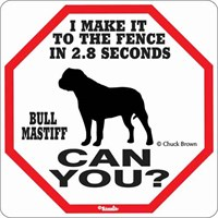 Bullmastiff 2.8 Seconds Sign