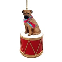 Bullmastiff Little Drummer Christmas Ornament