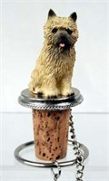 Cairn Terrier Bottle Stopper (Red)