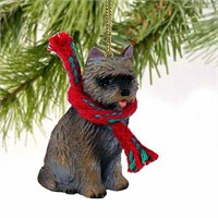 Cairn Terrier Tiny One Christmas Ornament Brindle