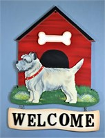 Cairn Terrier Welcome Sign Sand