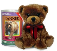Grizzly Bear Canned Critter