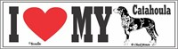 Catahoula Leopard Dog Bumper Sticker I Love My