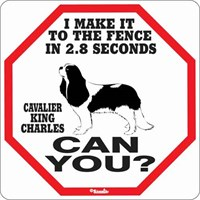 Cavalier King Charles 2.8 Seconds Fence Sign