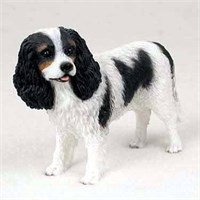 Cavalier King Charles Figurine Black and White