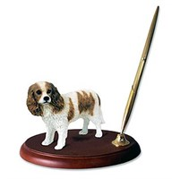 Cavalier King Charles Pen Holder (Brown & White)