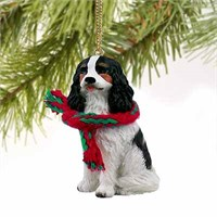 Cavalier King Charles Spaniel Tiny One Christmas Ornament Black and White