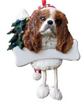 Cavalier King Charles Christmas Tree Ornament - Personalize