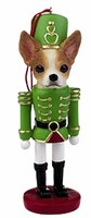Chihuahua Christmas Ornament Nutcracker (Tan)