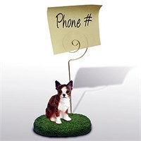 Chihuahua Note Holder (Brindle & White)