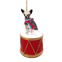 Chinese Crested Little Drummer Christmas Ornament