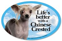 Chinese Crested Car Magnet - Life's Better