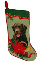 Chocolate Lab Christmas Stocking