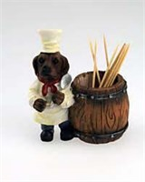 Chocolate Lab Toothpick Holder