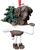 Chocolate Lab Christmas Tree Ornament Personalized