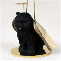 Chow Chow Angel Ornament Black