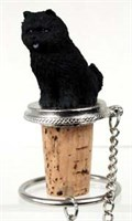 Chow Chow Bottle Stopper (Black)