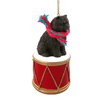 Chow Chow Black Little Drummer Christmas Ornament