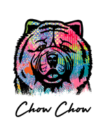 Chow Chow T Shirt Colorful Abstract